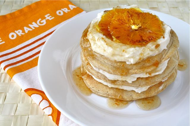 (via Orange Creamsicle Protein Pancakes | Kiss My Broccoli)