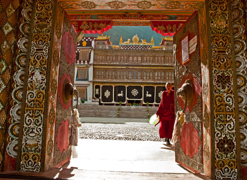 Bsampeling Monastery in Sichuan, China