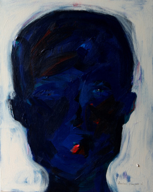 wanjikunjoroge:  Face III Acrylic and Mixed Media on Canvas 2012 SOLD