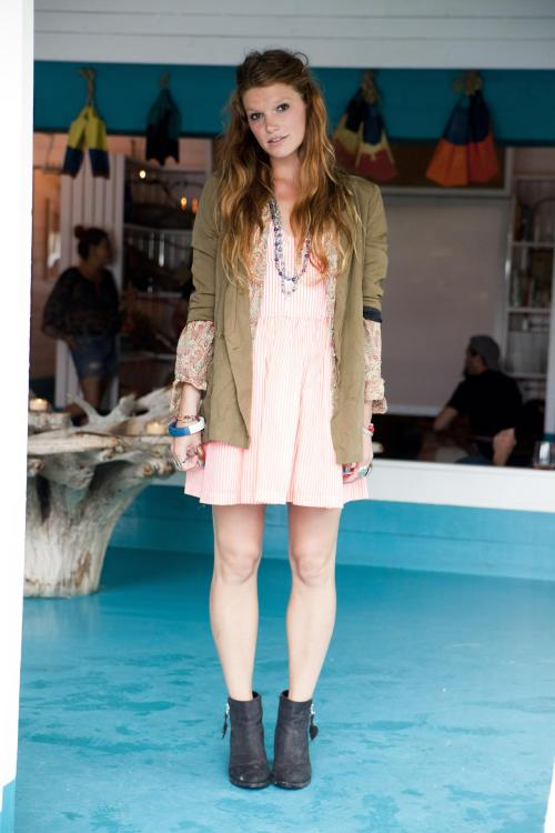 Layers turn your summer dresses into fall fashion.