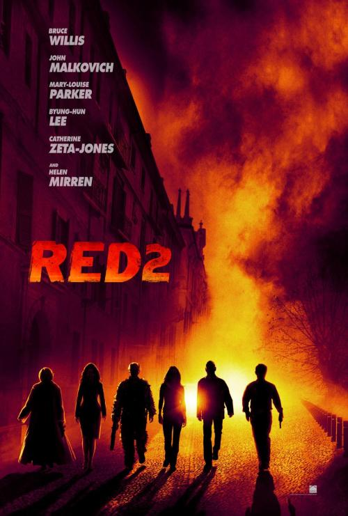 First Teaser Poster For RED 2 Officially Released