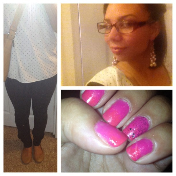 #picstitch Did my nails over… Not too fancy today. #polkadots #ombre #twists #simple #fashion #thefashionadvocate #coach #gap #instabiz #instafashion #instagood #instaads (Taken with Instagram)