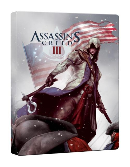 Assassins Creed III - hmv exclusive Steelbook Here it is in all its glory - our hmv exclusive Assassins Creed 3 steelbook! The limited edition steel case comes with both the standard & Join Or Die Collectors edition, when you pre-order in-store or online at hmv.com* Find out more, here - hmv Assassin's Creed Zone Who's excited for the latest in the franchise?! Check out the trailer below:   *while stocks last