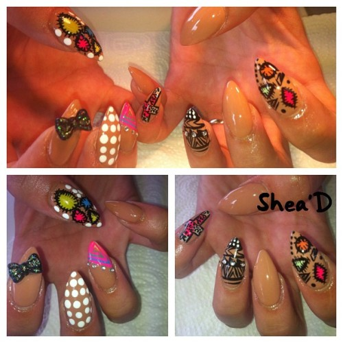 sheadbeauty:  Nails did for the lovely @lenalensky #nails #nailart #london (Taken with Instagram)
