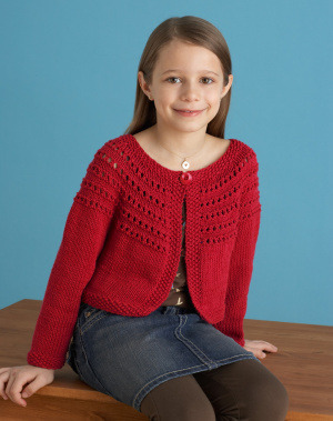 Free Knitting Pattern 70807B Fresh Picked Color 3/4 Sleeve Cardigan : Lion Brand Yarn Company