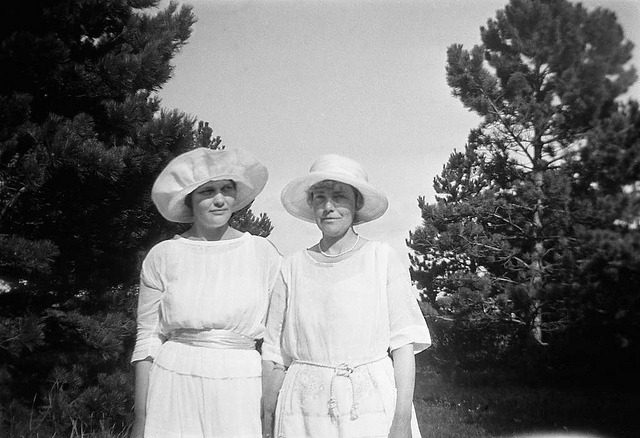 Berit Wallenberg and her mother in Falsterbo, Skåne by Swedish National Heritage Board on Flickr.