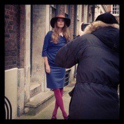 Model Elise strikes a pose on set of our latest workwear shoot (via » Staff snapshots | Boden Bits & Blogs)