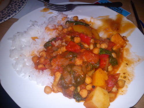 delicious veggie curry with rice