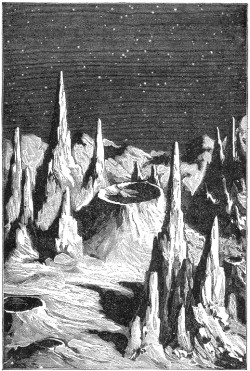 Lunar Day.From the book Recreations in Astronomy by H. D. Warren D. D. (1879). Found here.
