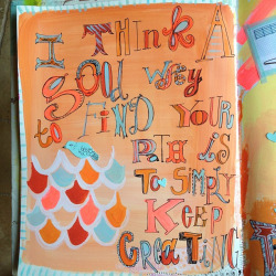artjournaling:  Thought for the day (by Pam Garrison)