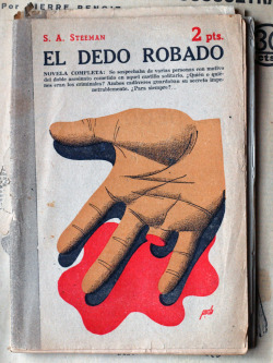 black-hands:  El dedo robado. Illustration by Manolo Prieto. Found here.
