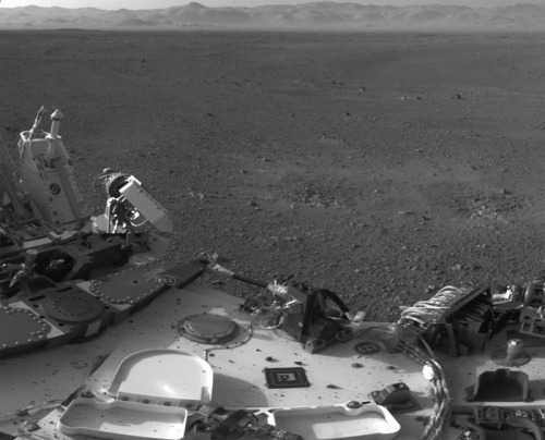 It may be hard to believe, but Curiosity hasn't driven anywhere yet. It was placed on Mars with the skycrane on August 6, and has not moved since. They're very careful with their new toys. Mars Rover Curiosity Ready for Test Drive  After acing a steering test, NASA's new Mars rover will go for short drive on Wednesday, its first move since reaching the Red Planet. Curiosity won't break any distance records during its test drive, which is expected to last about 30 minutes. The one-ton, six-wheeled rover should travel about 10 feet forward, pivot its wheels and back up, reparking at a 90-degree angle from its starting point inside Gale Crater.  drive on…