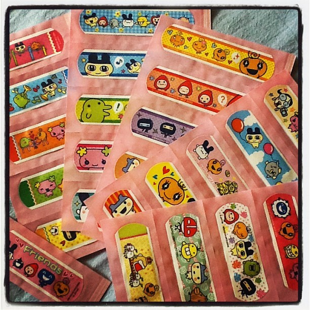So many cute plasters I got from Hong Kong. I don't hurt myself enough to use them though haha! (Taken with Instagram)