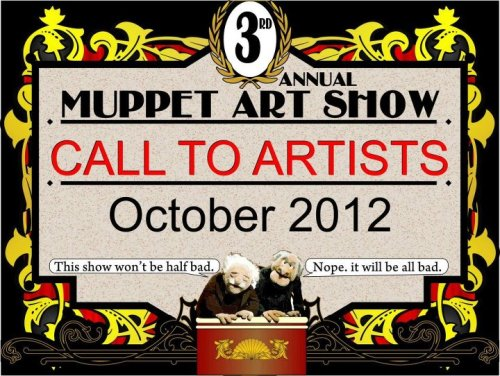 The 3rd Annual Puppet Art Show is on!We have already begin to receive submissions. Any artist is more then welcome to submit. 3 day event! October 19, 20th, and 21stHeld in Winter Park at the NEW Renegade Theater!5 dollars for adult, Kids FREE! This year is ANYTHING puppet!  We will be featuring animatronics by Robert Bennetthttp://www.robertbennettportfolio.com/Email me at BenjaminSawinski@gmail for submission information. New Muppet Art Show has been announced!To sign up, all you have to do is respond to this email address.Proceeds from this years puppet art show will go to http://www.glaad.org/This is an all ages show, and artists will get 2 tickets with theirsubmission. Just finished designing the tickets today.Artists can also purchase additional tickets at half price prior tothe event for their friends, family, or resale for face value.Details can be found by emailing me at Benjaminsawinski@gmail.com or going to BSSart.com/muppet Facebook event page -  http://www.facebook.com/events/391344727588190
