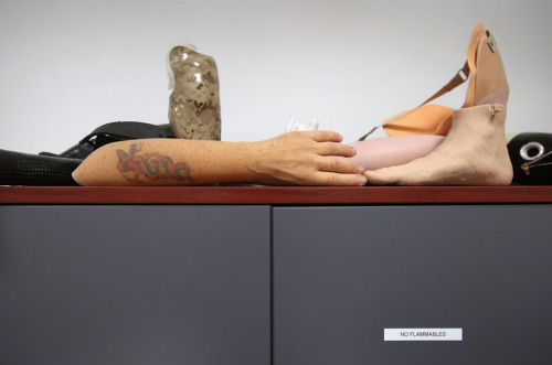 From today's edition of The Big Picture:  Life-like covers for prosthetic limbs lie atop a locker at the Center for the Intrepid (CFI), at Brooke Army Medical Center, Aug. 7, 2012. Artists paint the rubber covers, complete with custom tatoos, which slide over prosthetic arms and legs made at the center for military amputees. The CFI is the largest rehabilitation center for wounded military servicemembers suffering from amputations, burns and functional limb loss in the United States. (John Moore/Getty Images)