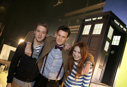 "Official UK Doctor Who Blog: Asylum of the Daleks Premieres 1st September on BBC One, 5 part web mini-adventure ""Pond Life"" to begin Monday! From the site:  We are delighted to confirm that the Doctor returns to BBC One on Saturday, 1st September with the incredible, Asylum of the Daleks. But you won't have to wait until then for new Doctor Who as Pond Life premieres online on Monday, 27th August. Matt Smith returns as the Doctor and called Asylum of the Daleks 'a cracker', adding, 'Steven [Moffat] has written an absolute belter and we have made the Daleks scary again'. But before that, we have Pond Life to look forward to! Featuring the Doctor, Amy and Rory, this five-part mini-adventure premieres on this site at noon on Monday with parts 2-5 stripped daily across the week. Written by Chris Chibnall and directed by Saul Metzstein, the omnibus version of Pond Life will be shown on the BBC's Red Button on Saturday, 1st September. Chris Chibnall commented, 'Pond Life provides us with a lovely opportunity to catch-up with Amy and Rory since we saw them at the end of the last series.  It opens with the Ponds at home and gives us an insight in to just what happens when the Doctor drops in and out of their lives.  Traveling with the Doctor is one of the greatest things you can do, but it's fun to spend a few moments looking at the chaos he can also bring.'  If you're looking for the US and Canadian announcements (also premiering September 1st), click here."
