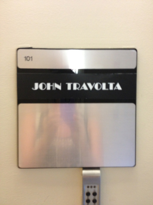 Not very sneaky John travolta
