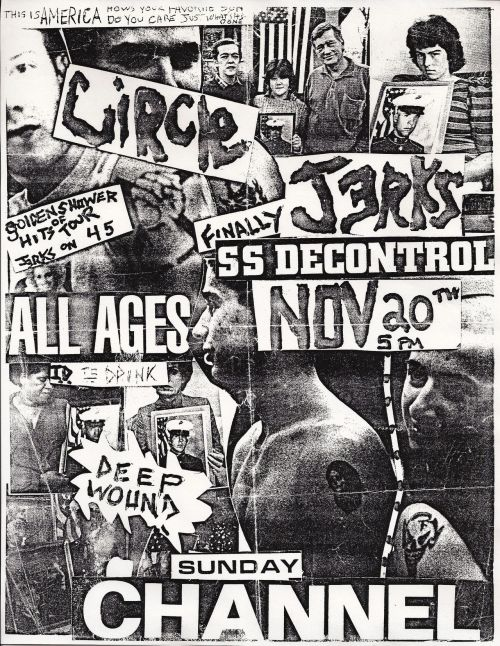 Circle Jerks / SSD / deep wound - flyer - boston - 1983