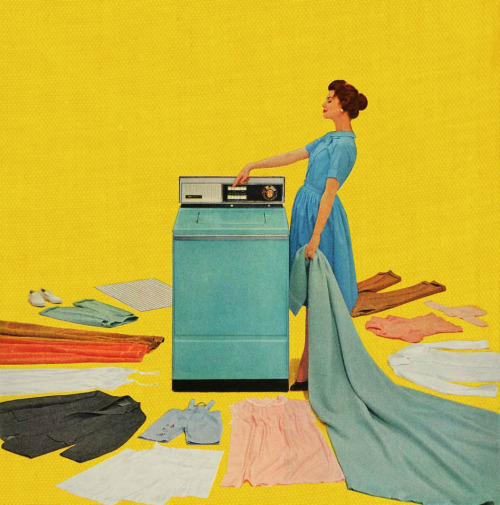 One Touch, detail from Hotpoint Washing Machine Ad 1956.