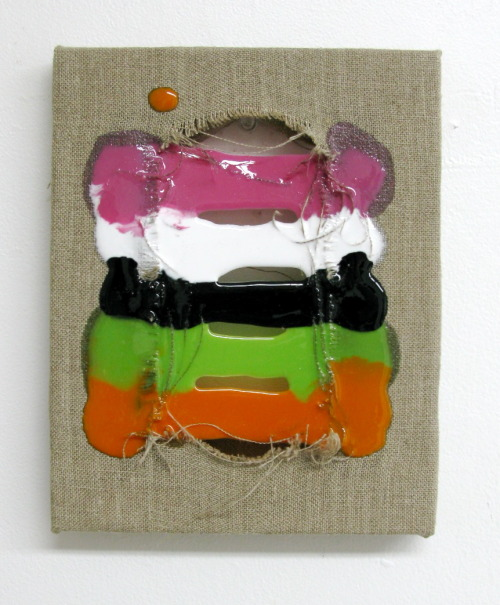 punk'd, 2012 mixed media on linen