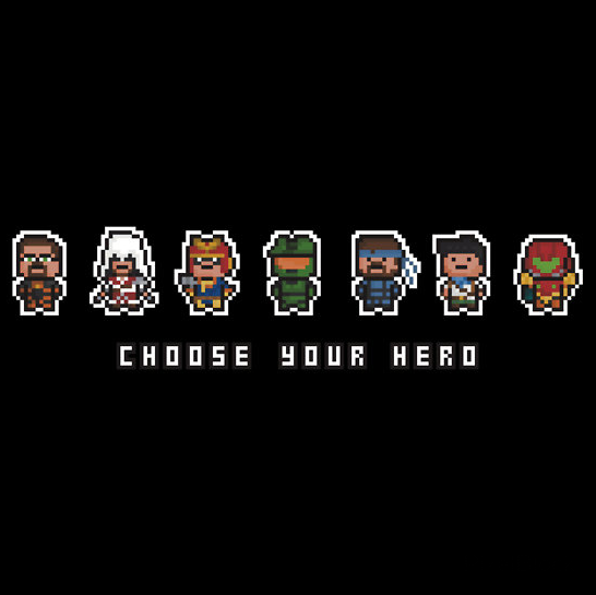 Choose Your Hero Created byPixelBlock Availbale onRedBubble Follow PixelBlock onTumblr