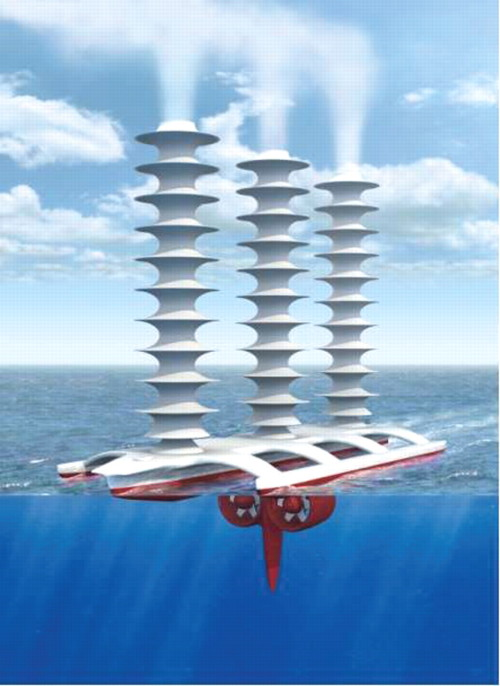 """Marine Cloud Brightening"" Geoengineering Project To Spray Salt Water Into Clouds to Fight Global Warming  The theory behind so-called marine cloud brightening is that adding particles, in this case sea salt, to the sky over the ocean would form large, long-lived clouds. Clouds appear when water forms around particles. Since there is a limited amount of water in the air, adding more particles creates more, but smaller, droplets. ""It turns out that a greater number of smaller drops has a greater surface area, so it means the clouds reflect a greater amount of light back into space,"" Wood says. That creates a cooling effect on Earth. Marine cloud brightening is part of a broader concept known as geoengineering which encompasses efforts to use technology to manipulate the environment. Brightening, like other geoengineering proposals, is controversial for its ethical and political ramifications and the uncertainty around its impact. But those aren't reasons not to study it, Wood says. ""I would rather that responsible scientists test the idea than groups that might have a vested interest in proving its success,"" he says. The danger with private organizations experimenting with geoengineering is that ""there is an assumption that it's got to work,"" he says. Wood and his colleagues propose trying a small-scale experiment to test feasibility and begin to study effects. The test should start by deploying sprayers on a ship or barge to ensure that they can inject enough particles of the targeted size to the appropriate elevation, Wood and a colleague wrote in the report. An airplane equipped with sensors would study the physical and chemical characteristics of the particles and how they disperse. The next step would be to use additional airplanes to study how the cloud develops and how long it remains. The final phase of the experiment would send out five to 10 ships spread out across a 100 kilometer, or 62 mile, stretch. The resulting clouds would be large enough so that scientists could use satellites to examine them and their ability to reflect light.  This sounds infinitely preferable to similar schemes that propose to use sulfur. (via Manmade Clouds May Combat Global Warming 