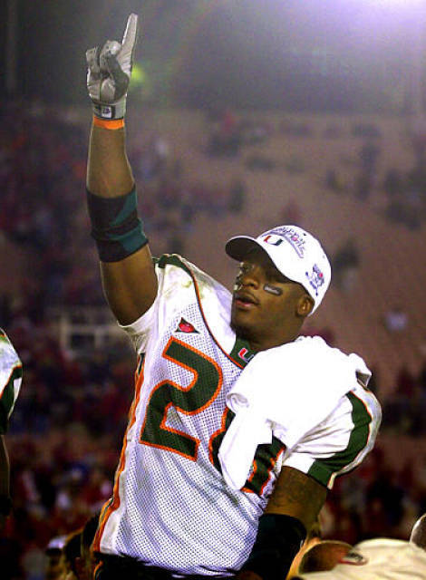 Congratulations to one of the best running backs in Miami Hurricanes history on his retirement from professional football - after 9,923 yards and 75 TD's in only nine NFL seasons, Clinton Portis will retire as a Washington Redskin on Thursday.