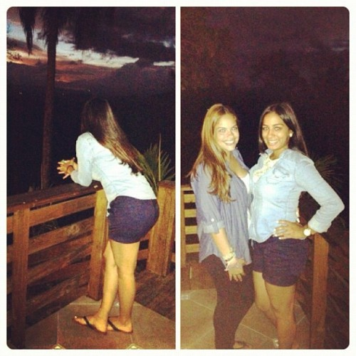With @sarylove lastnight! #matching #love #denim #jarabacoa #sunset #mountains  (Taken with Instagram at Jarabacoa)