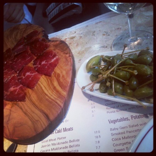 greedytraveller:  @barafina #Cecina, #caperberries…#barafina. still great #tapas (Taken with Instagram)