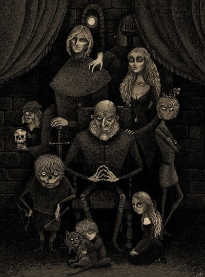 jedipug1:  (via Lannisters As the Addams Family [Pic])