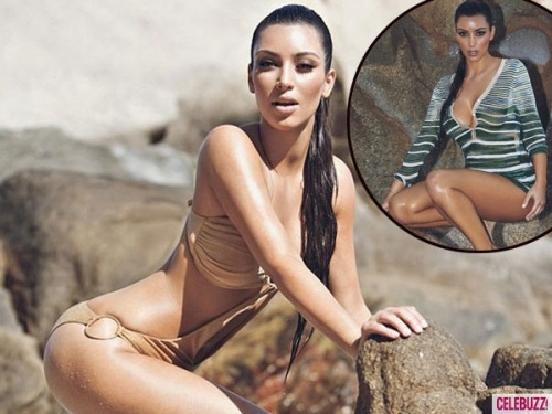 Kim K rock climbs…sort of.