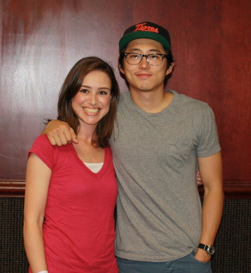 ME and Steven Yeun, who was also a sweetie. What a great day that was!