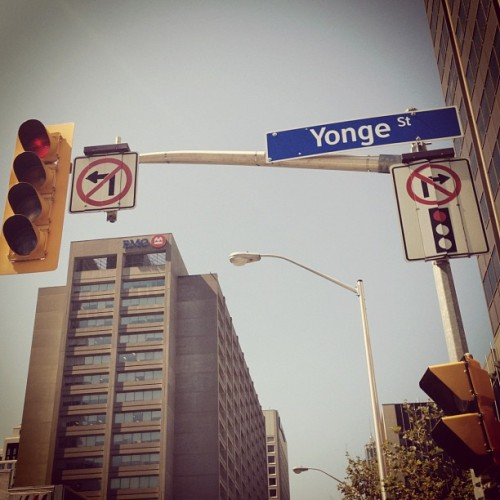 Longest street in the world. #yonge #street  (Taken with Instagram at Yonge Street Downtown)