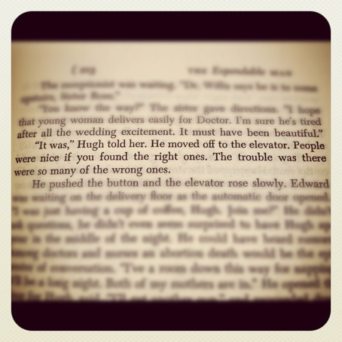 ohyeahandbytheway:  From THE EXPENDABLE MAN by Dorothy B. Hughes. #books #words (Taken with Instagram)