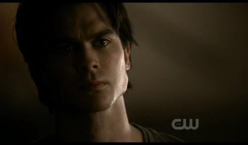 "Ian Somerhalder as Damon Salvatore on The Vampire Diaries (still) ""Stefan & Elena break up"""