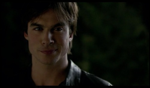 "Ian Somerhalder as Damon Salvatore on The Vampire Diaries (still) ""Hello, brother"""
