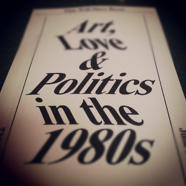 "An important, thoughtful look at how and why art happened in the 1980s. (The catalogue is a must-own.) Painter Lari Pittman is at the heart of the show and was a wonderful guest on Episode No. 21 of The Modern Art Notes Podcast. Download it here, see images from ""This Will Have Been"" and Pittman's work here. thecamhouston:  #walkerartcenter I want to see this - @martha_kirby- #webstagram Today's ""Curator's Pick"" from the Senior Curator of CAMH, Valerie Cassel Oliver, is the current exhibition, ""This Will Have Been: Art Love & Politics in the 1980's"".This traveling exhibition features some of CAMH's favorite contemporary artists such as: Donald Moffett, Guerrilla Girls, Gerhard Richter, Felix Gonzales Torres, Cindy Sherman and Jeff Wall.  To learn more about the ""This Will Have Been"" exhibition check out the PBS's Art 21 Blog write up and then head over to the Walker Art Center's website, where you can plan your trip!"