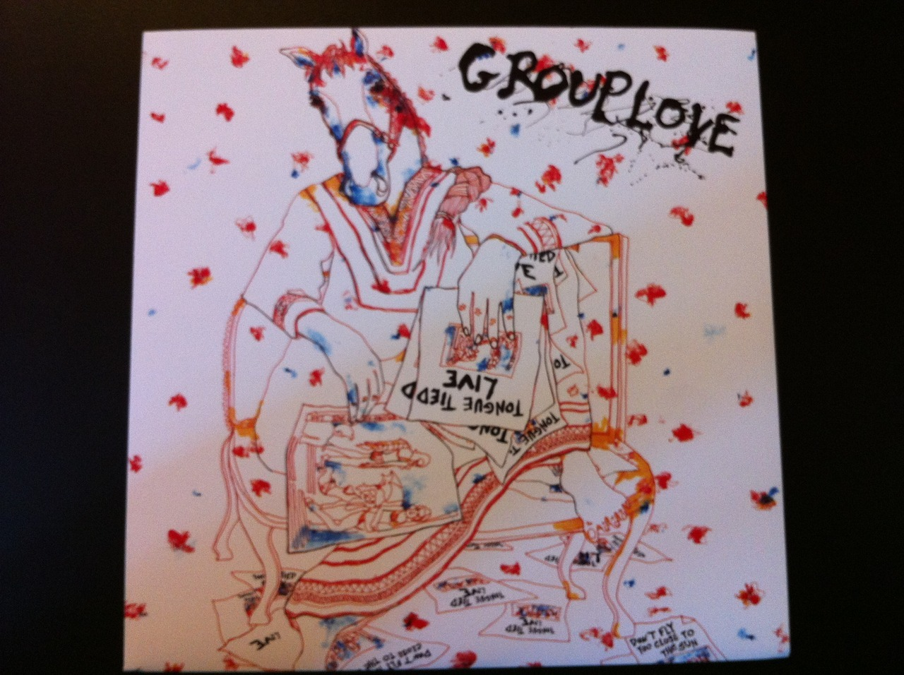 "Vinyl cover art for the Record Store Day single release of Grouplove's ""Tongue Tied"""