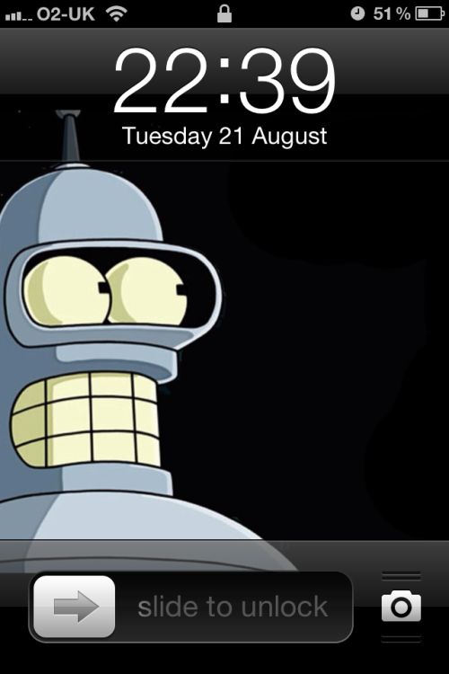 I changed the wallpaper on my phone. Got the fright of my life when I went to unlock it.