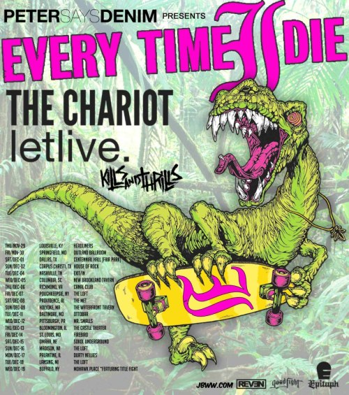 Every Time I Die announces a tour with letlive., The Chariot and Kills and Thrills.
