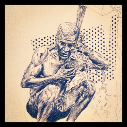 #Five alive getting washed #sketch #charcoal #apocalypse