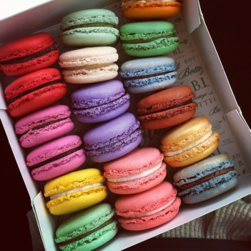 Nothing more yummy than macaroons. Love the colours of these ones. My favourite!