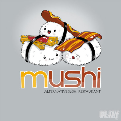 Introducing Mushi, the most delicious sushi around the world XD. If you have an account on Shirt.Woot and want this design to become in t-shirt, please vote for it. Thanks ;) http://shirt.woot.com/derby/entry/65462/mushi Di.Jay on Facebook.