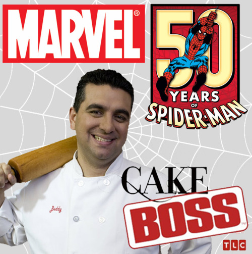 midtowncomics:  Hey Marvel Fans! Cake Boss Wants To Put You On TV!!! The hit show Cake Boss is filming a very special episode for Spider-Man's 50th anniversary this Saturday night in New York City and you're invited! Join Marvel creators and staff as they party it up on a NYC rooftop Spidey style! You'll be part of an extremely limited and special event PLUS you'll be on the TV show Cake Boss.  This will be the season finale episode for Cake Boss, so Buddy has gone all out for this Marvelous Spider-Man cake! And the best part? You get to eat the cake!!! We want to see your best Marvel costumes! We want this event to be as MARVELous as possible and your cosplaying expertise will do just that! This event will be limited to a very small guest list of COSTUMED Marvel fans. To be put on the list, email your name, age, and a photo of your Marvel costume to media@midtowncomics.com be sure to have CAKE BOSS EVENT in the subject line! You will be informed of the location and time once you are confirmed. All guest must attend in a Marvel costume. This list will fill up extremely fast so don't wait! Excelsior!