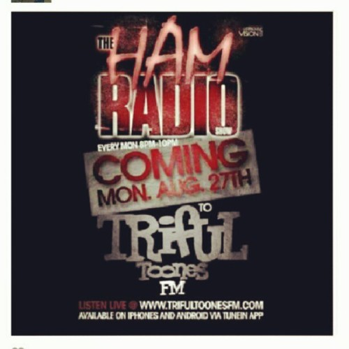 Starting Monday August 27th i will be broadcasting live on the all new @trifultoonesfm. New show, new music, new topics, no FCC regulations and the same old ME! Listen live Monday from 8-10pm.  #HAMRadio  (Taken with Instagram)