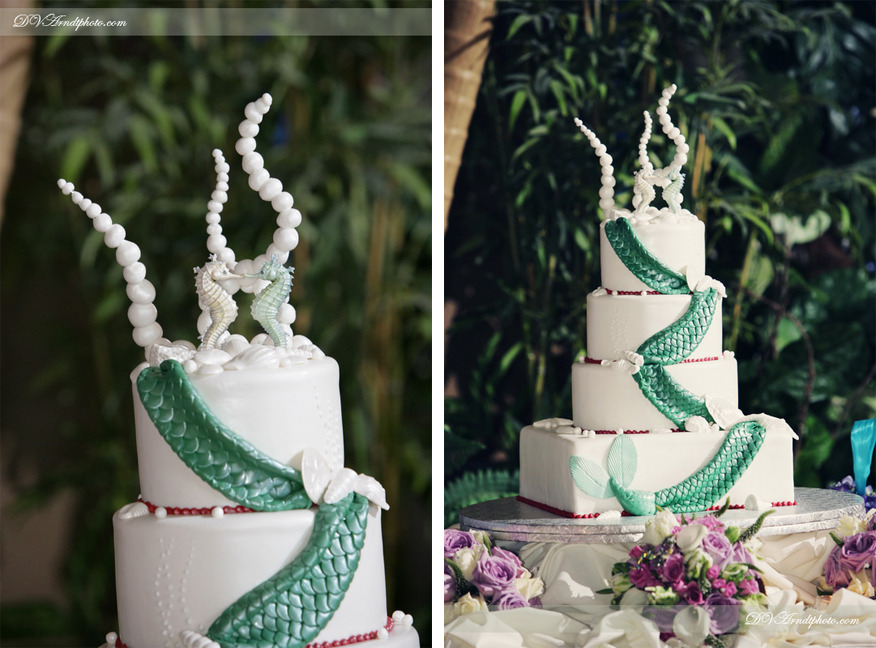 The Little Mermaid Themed Wedding Cake