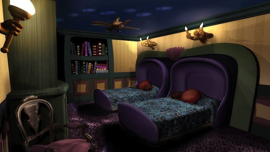 Haunted Mansion Themed Room @ Disney