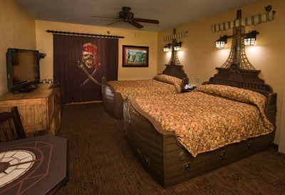 Pirate Themed Room at Disney