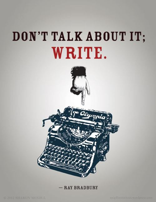 looksnbooks:  Just write.
