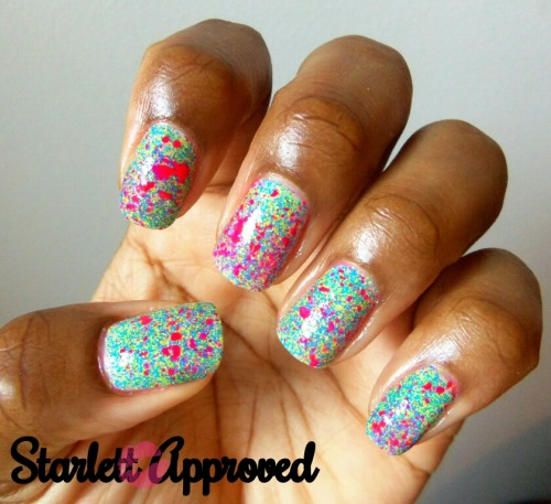 FLOAM FLOAM FLOAM SPLATTAH!!! I was obsessed with this manicure.  How amazing and ridiculous is Floam?  It's insane! There are at least 2 more Floamicures I want to do before summer ends and I look silly with it on lol ;)  Smooches Lovelies